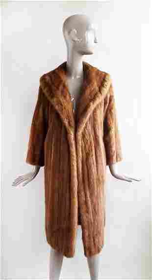 Brown Mink Fur Coat, ca. 1960's