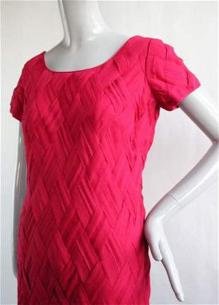 Maxwell's & Bob's Basket Weave Chiffon Dress, 1960's