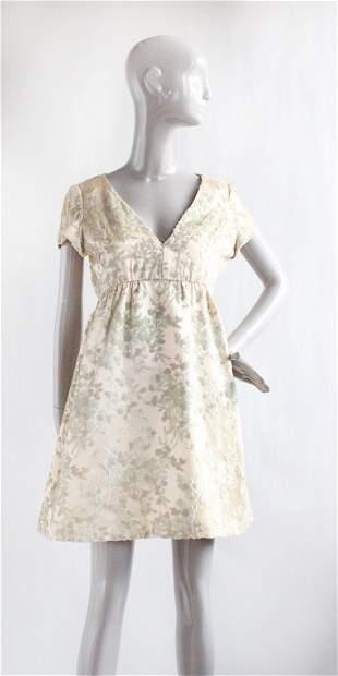 Teal Traina Cut Velvet Satin Dress, ca. 1960's