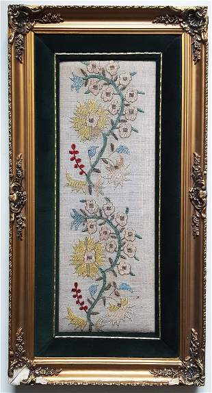 19th c. Antique Ottoman Turkish Embroidered Yaglik