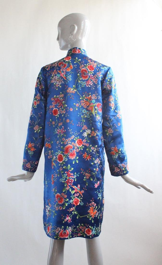 Plum Blossom Chinese Embroidered Coat , 1960's - 3