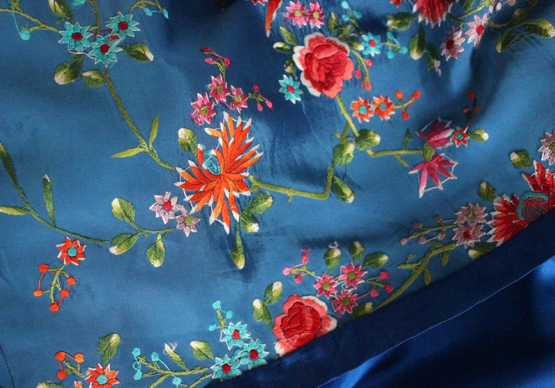 Plum Blossom Chinese Embroidered Coat , 1960's - 5
