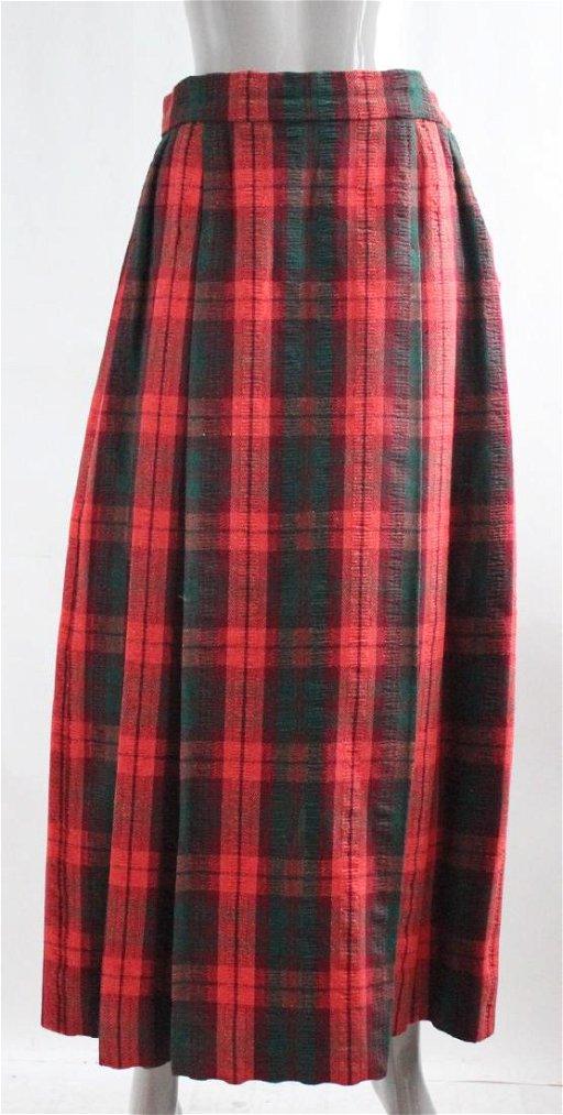 f16e7fd473963 Adolfo for Saks Fifth Avenue Tartan Skirt, 1970s - Feb 24, 2019 ...