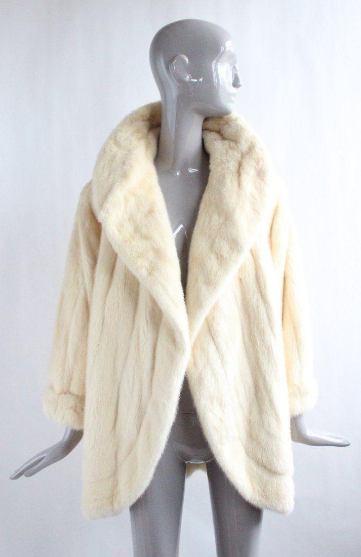 Fendi Couture Beige Mink Fur Coat, F/W 1983