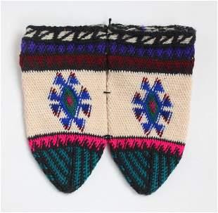 Pair of Vintage Hand Knitted Turkish Socks