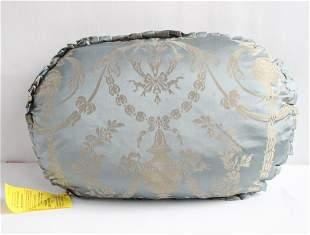 Antique Silk Damask Feather Pillow