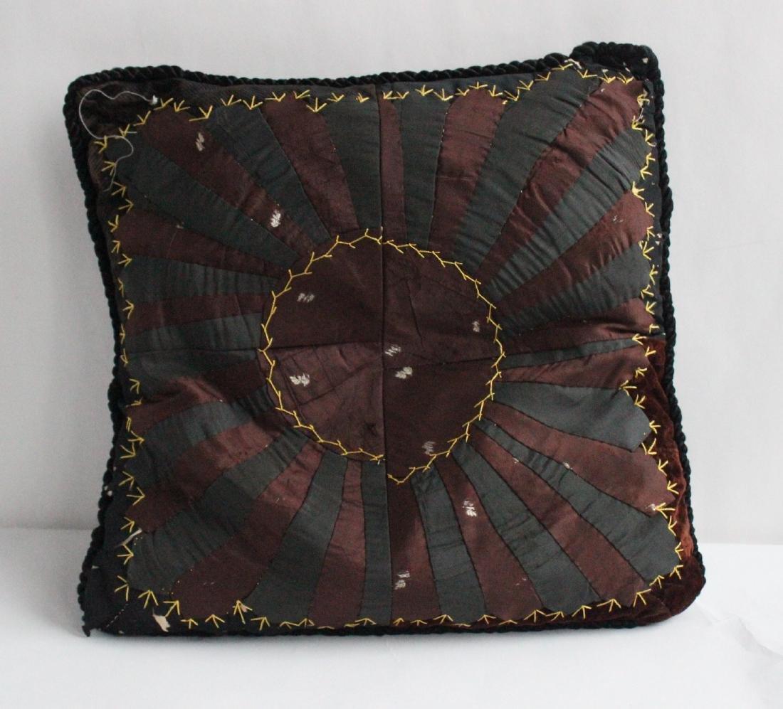 Antique Silk Quilt Feather Pillow
