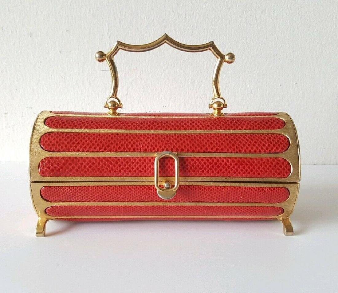 Judith Leiber Gold & Red Snake Minaudiere Bag, 1968