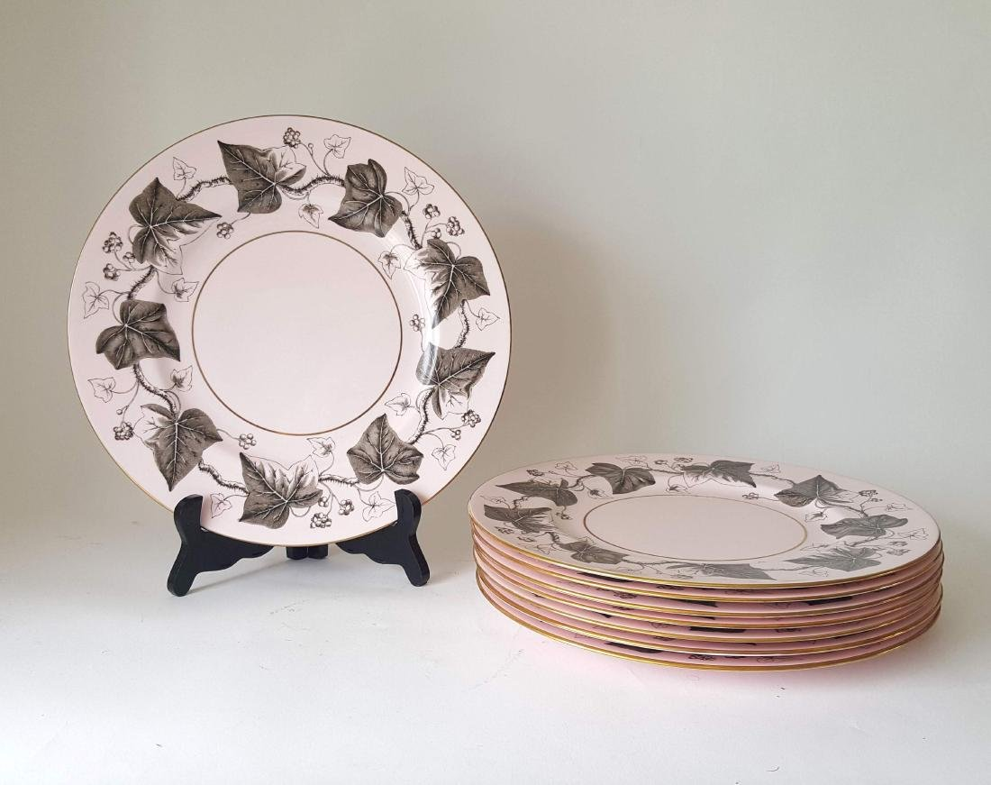 Wedgwood Alpine Pink Ivy Pattern 8 Charger Plates