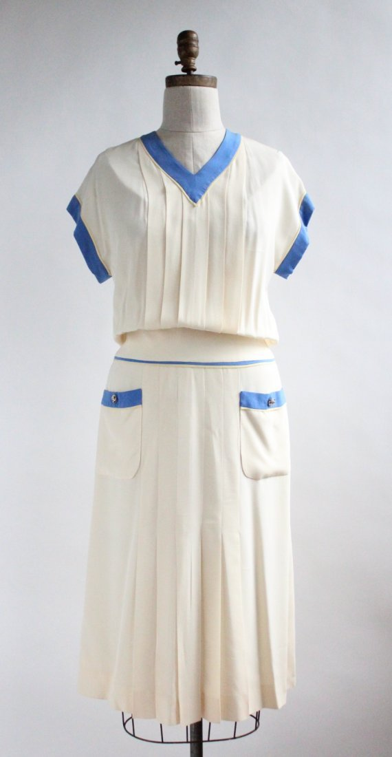 Chanel Boutique by Karl Largerfeld Silk Dress, S/S 1984