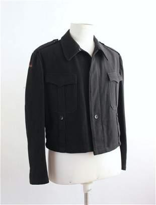 Black Wool German Military Jacket