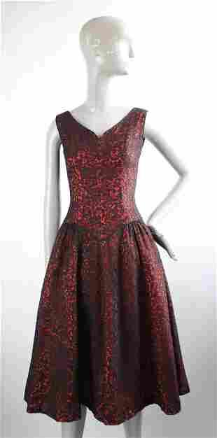 Suzy Perette Black Lace Dress & Jacket, 1950s