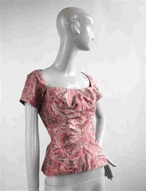 Galanos Silk Taffeta Top & Scarf, 1950s