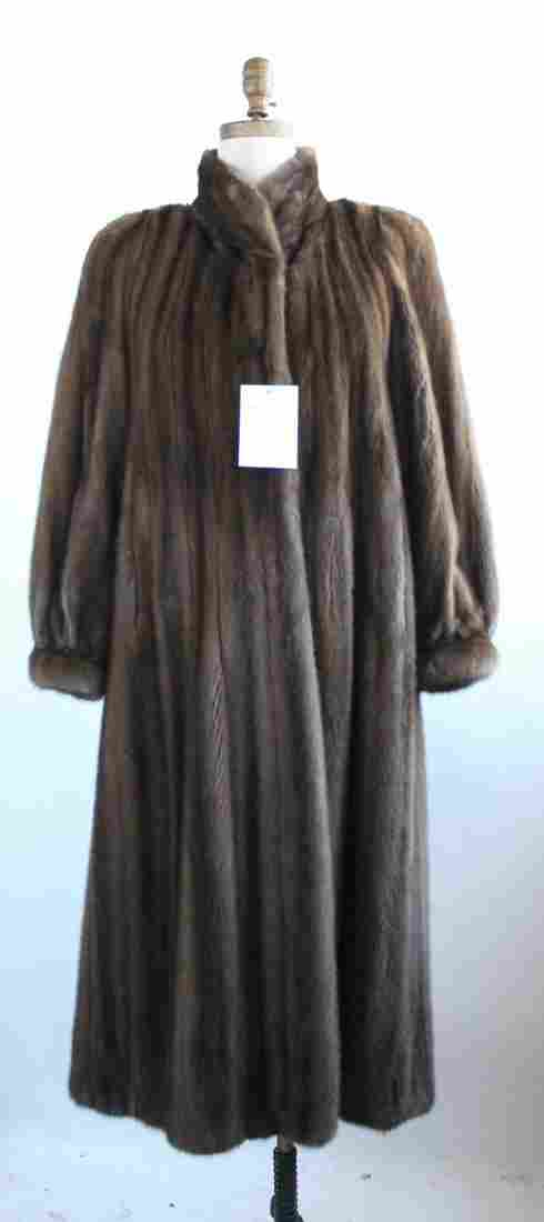Yves Saint Laurent Brown Mink Fur Coat, ca. 1980s