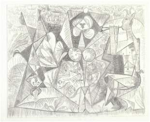 Pablo Picasso The Pipes Les Pipeaux Etching c 1946