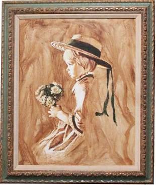 Frank Palmieri 19182017 Portrait of A Girl Painting
