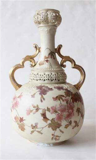 Royal Rudolstadt Hand Painted Large Vase early 1900s