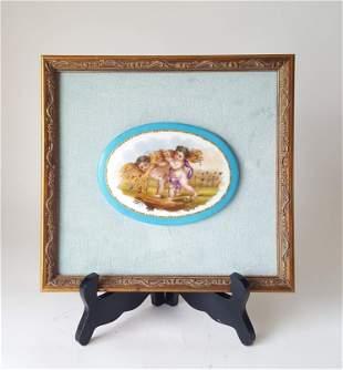 Sevres Oval Porcelain Plaque 19t C