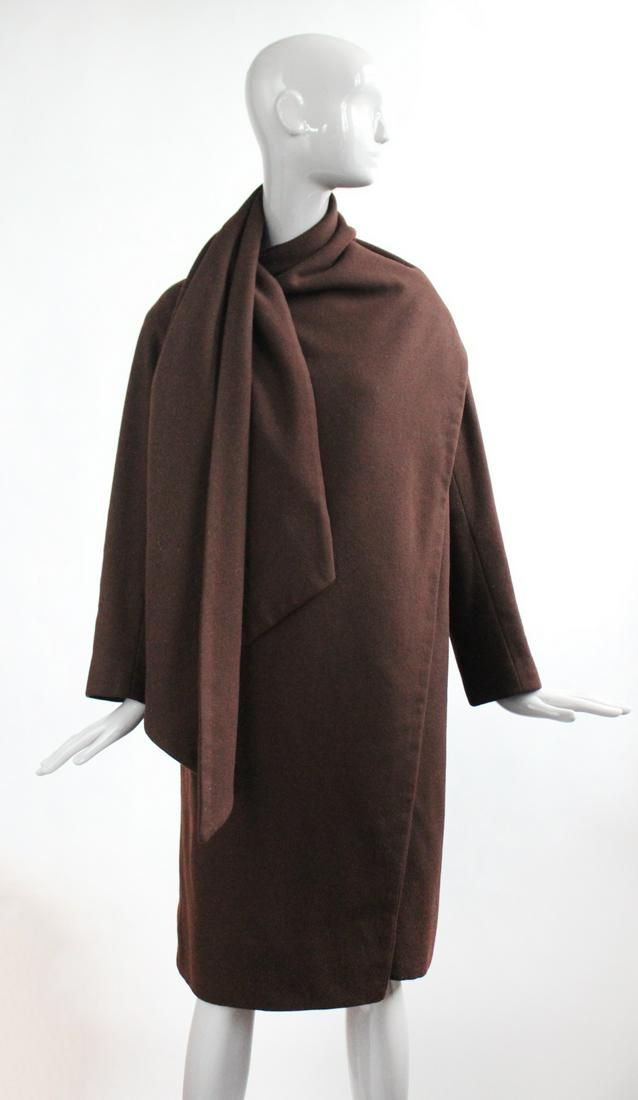 Christian Dior Haute Couture Brown Wool Coat, F/W 1954