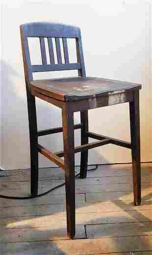 Antique Sikes Philadelphia Wood High Clerk Chair