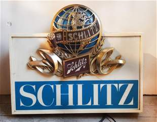 Schlitz Light Up Beer Sign ca 1975