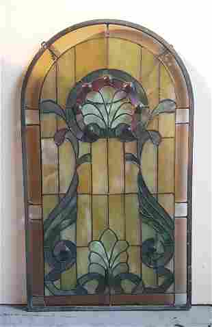Stained Glass Hanging Panel 20th century