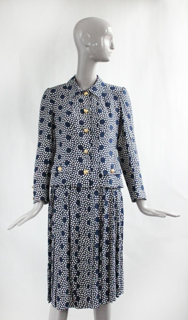Chez Ninon Chanel Haute Couture Copy Silk Suit, S/S