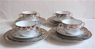 Antique Austria Porcelain Chocolate Cups Set