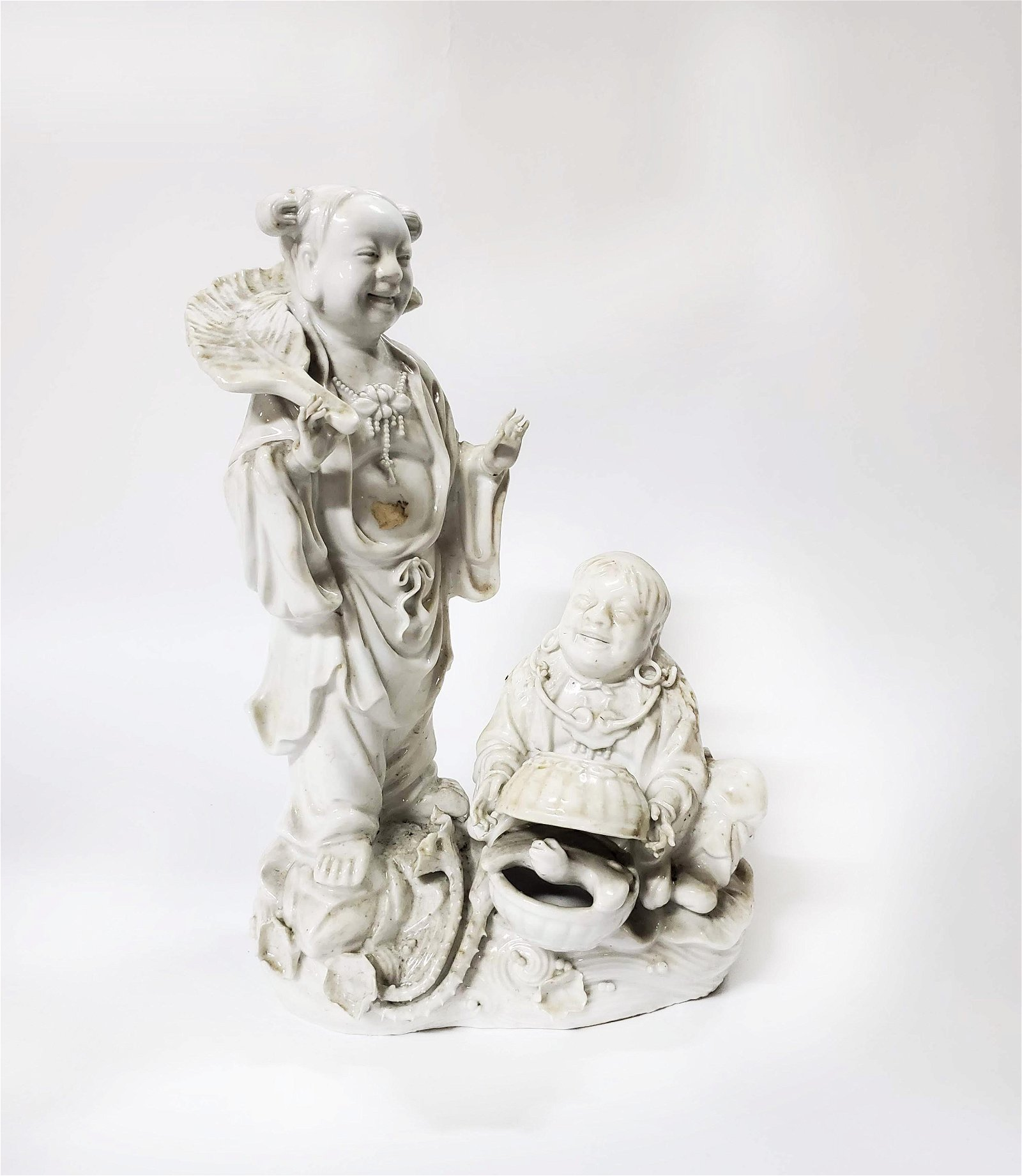 Chinese Chine de Blanc Figural Group