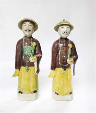 Pair of Chinese Export Male Figures