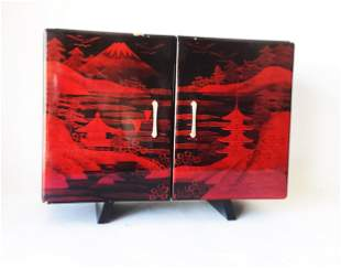 Japanese Lacquered Musical Jewelry Box