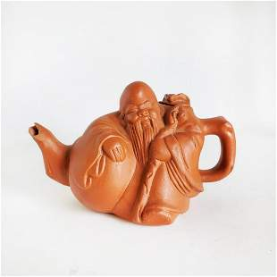 Chines Signed Yixing Pottery Teapot