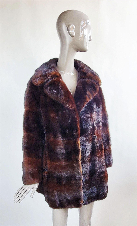 Galanos Dark Brown Mink Fur Coat, ca.1960s-70s
