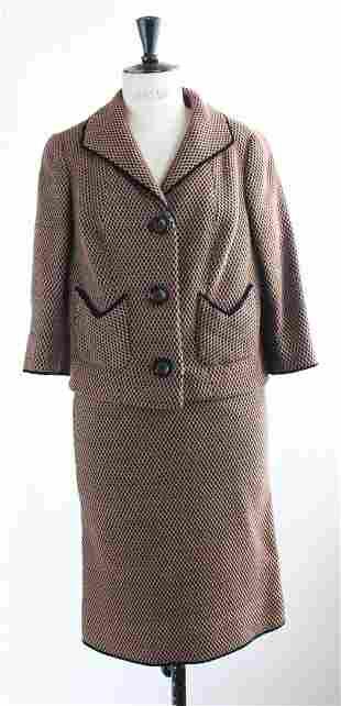 Emmy Fisch Brown Black Tweed Suit 1960s