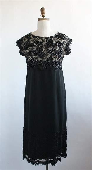 Chantelle NY Custom Made Black Dress 1960s