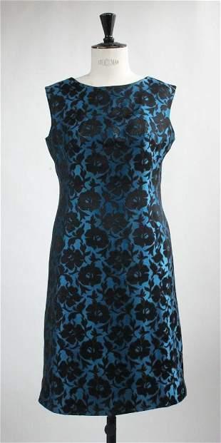 Nat Kaplan New York Silk Brocade Dress ca 1960s