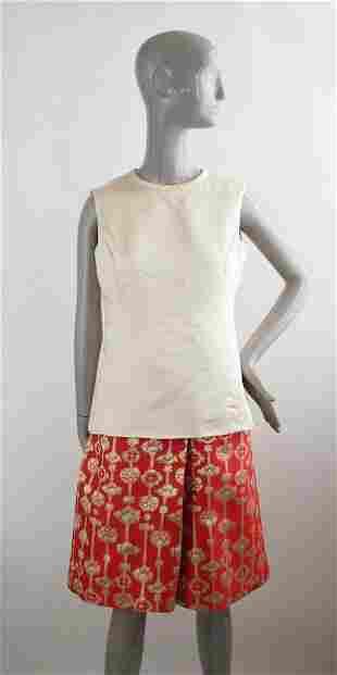 Gino Charles Satin Broade Dress 1960s
