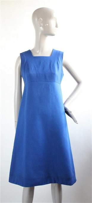 Mariko Originals Blue Wool Dress ca 1960s