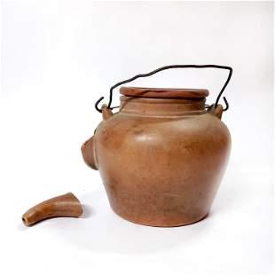 Antique Chinese Yixing Clay Large Tea Pot