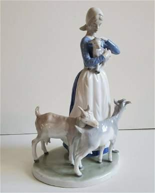 Lippelsdorf GDR 1877 German Porcelain Large Figurine