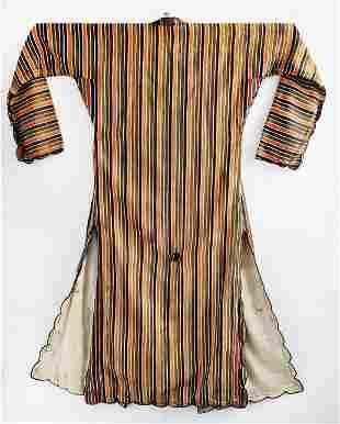 Turkish Striped Ucetek / Caftan, 20th c.