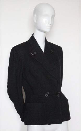 Lord & Taylor Fifth Avenue Gray Wool Jacket, ca.1950's