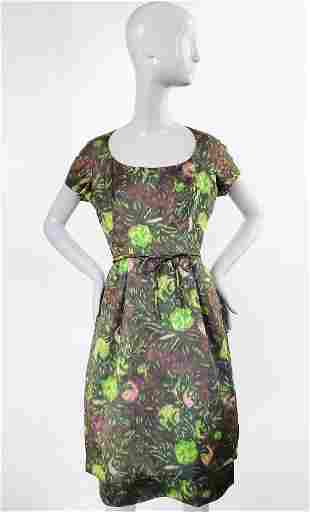 Nathan Strong by August Silk Dress, ca. 1950s