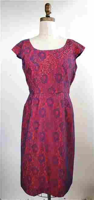 Josephine Blue Lace & Red Dress, ca. 1950s