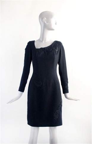 Yildirim Mayruk Haute Couture Black Dress ca1990s