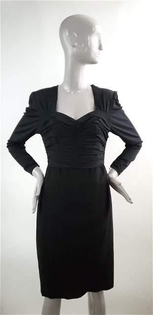 Nina Ricci Paris Black Dress ca 1980s