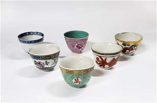 Lot of 6 Chinese Porcelain Tea Cups