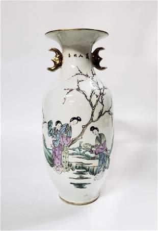 Antique Chinese Famille Verte Vase