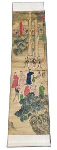 Antique Chinese Scroll Painting, ca. 19th c.