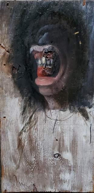 Yishai Minkin b1972 Oil on wood